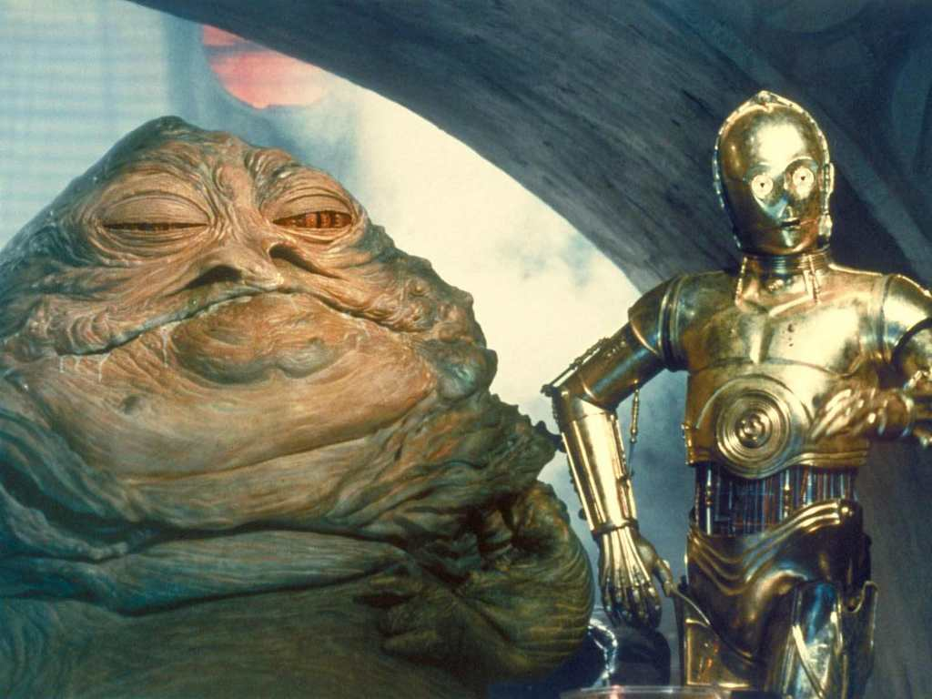 Fruitless Pursuits: C3PO Has Fake Wires and Weird Hands! Jabba The Hutt