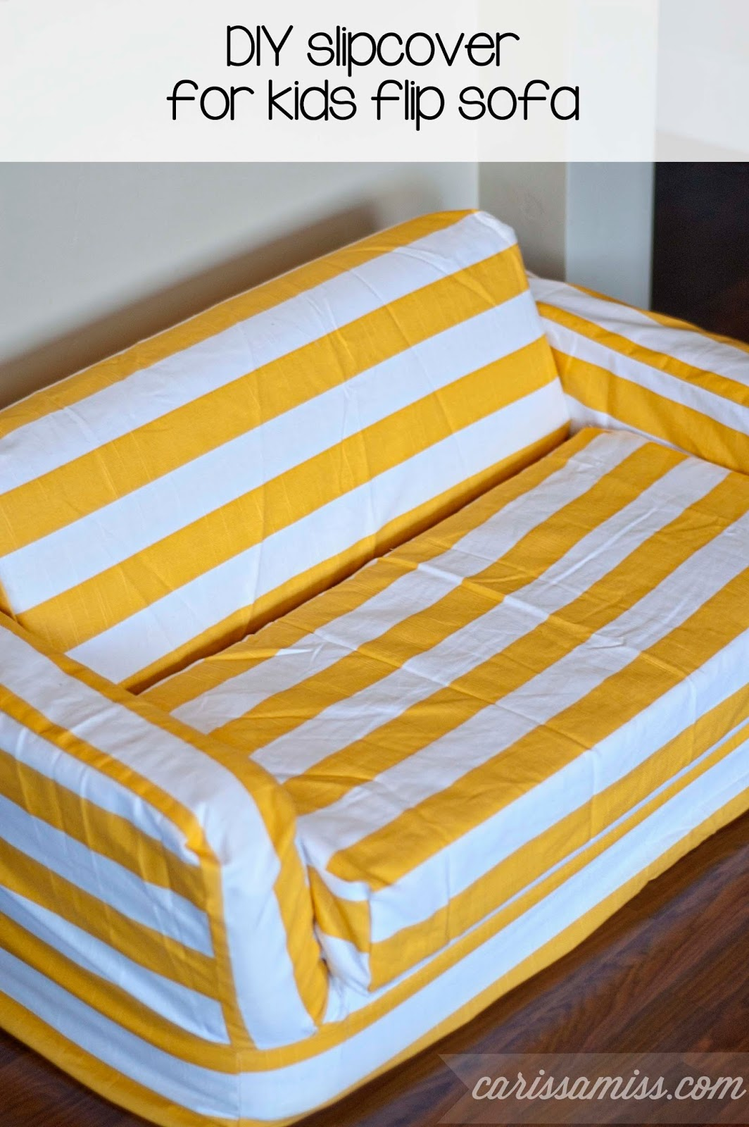Carissa Miss: DIY slipcover for kids flip sofa #creativebuzz