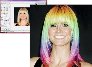 Tutorial para colorear el cabello de un retrato con GIMP