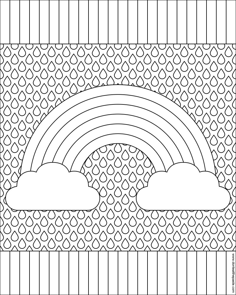 Rainbow coloring pages - Rainbow Coloring Page