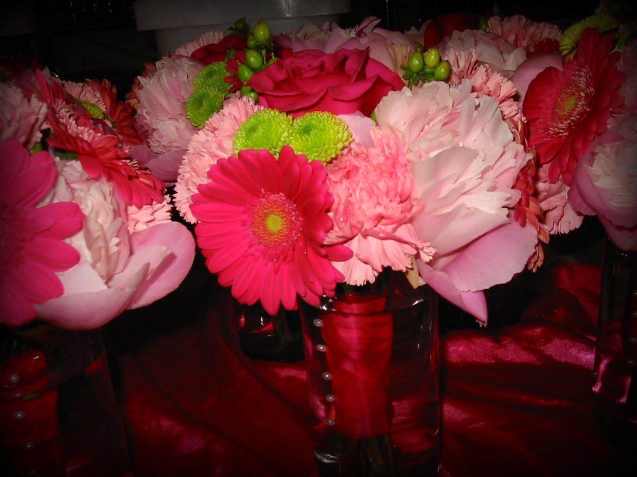 Wedding in Peonies, Gerbera Daisies, and Roses | Flowers From ...