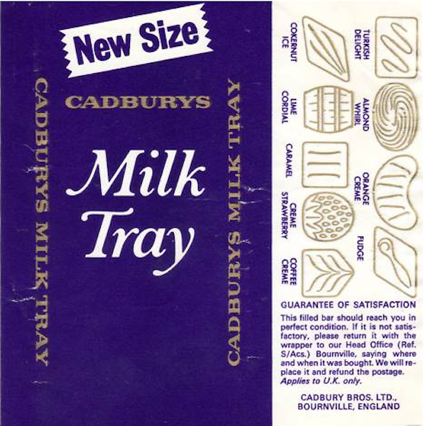 A Mouse In A Maze Bygone Times Milk Tray Chocolate Bar