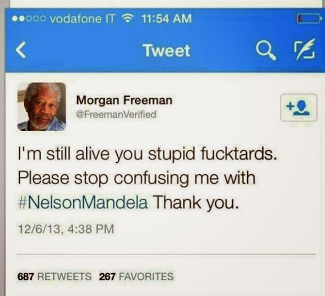 Morgan freeman , nelson mandela troll