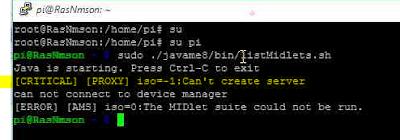 [Raspberry] Cách fix lỗi Can't Create Server trong Java ME Embedded 8.1 với Raspberry