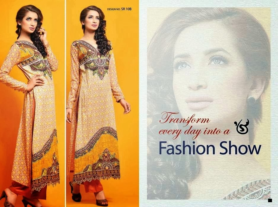 Orange Embroidered Cotton Suit Collection