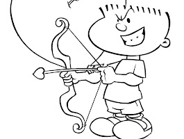 Cupid Valentine Heart Coloring Pages
