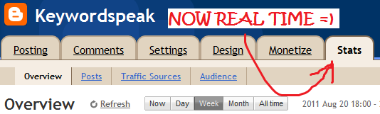 blogger traffic stats page real time