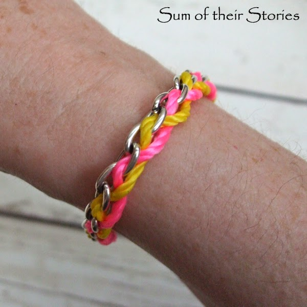 Chain and Thread Bracelet Tutorial