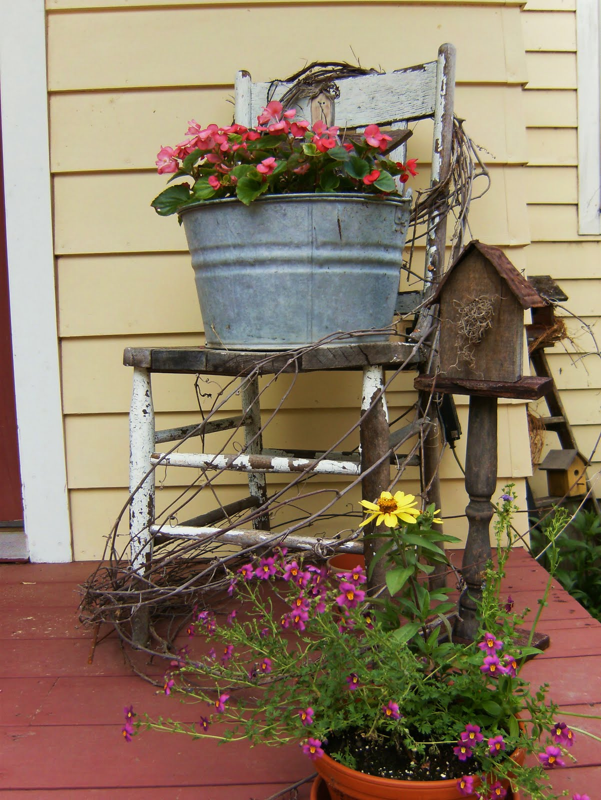 Bittersweet farm prim pails posies and porches garden for The country porch com