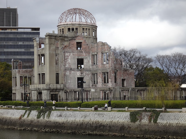 A-Bomb Dome along the river in Hiroshima, Japan