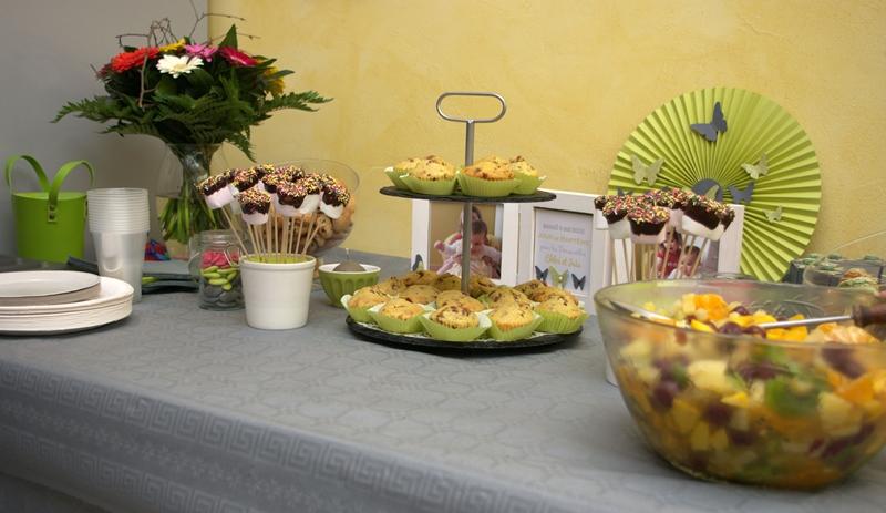 Le scrap d 39 aur0re d coration du bapt me for Decoration de salade de fruits