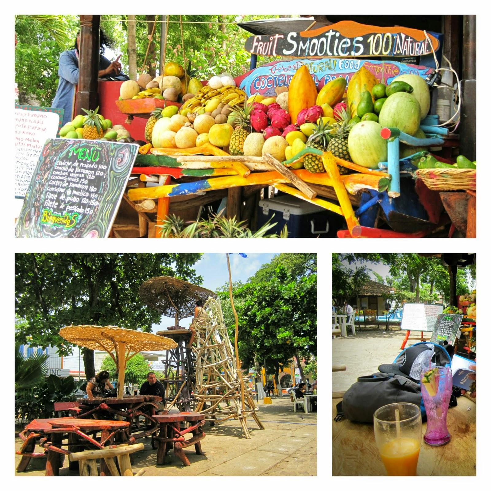 kiosco de zumos en Masaya