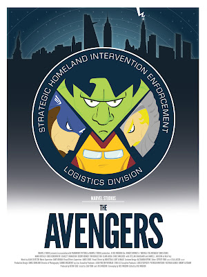 Marvel Movie Poster Series by DaveWill - The Avengers Print