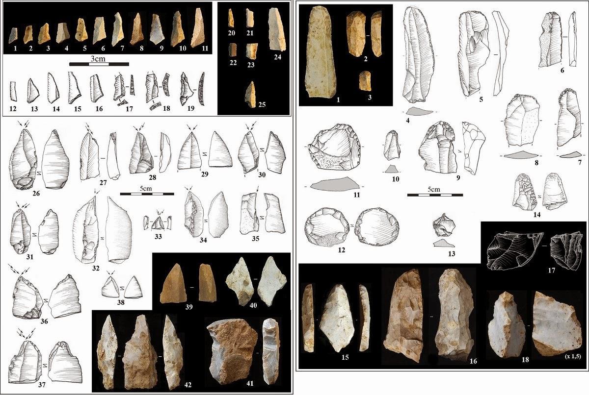 Magdalenian stone tools