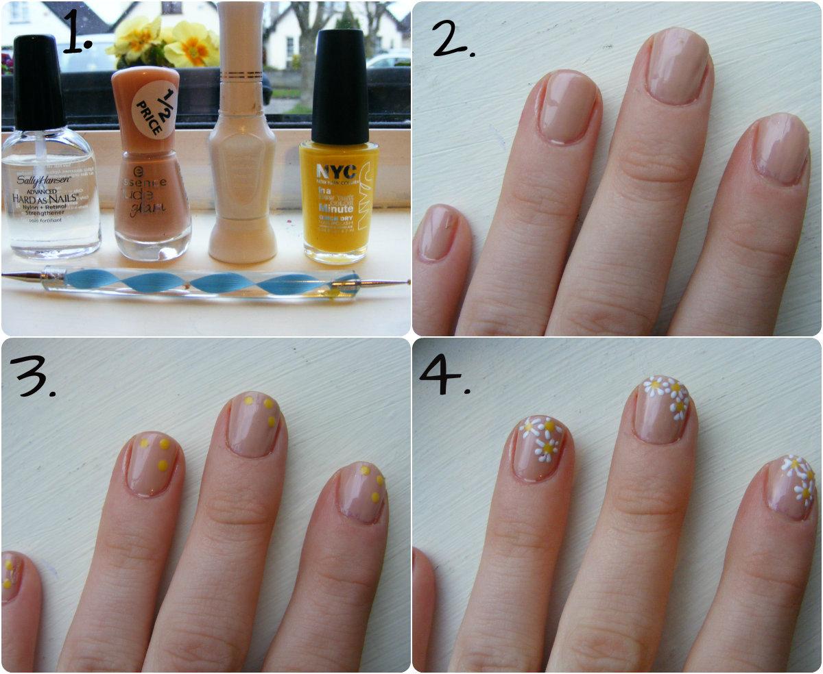 Toe Nail Designs Daisy : Daisy nail art tutorial oh hey there rachel