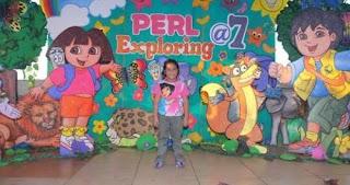 Dekora Styrofoam Dora Dengan Balon