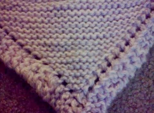 Inspirefly: Diagonal Knitted Baby Blanket