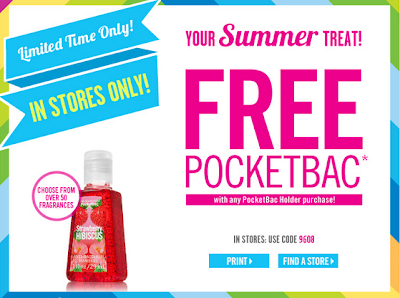 free pocketbac with any pocketbac holder coupon at bath and body works