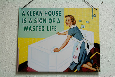 A clean house is a sign of a wasted life.