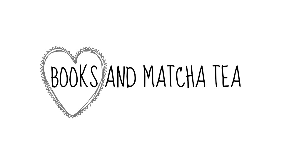 books and matcha tea