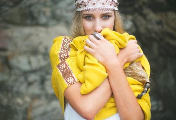 Bohemian Infinity Scarf #yellow #gold #scarf #bohemian