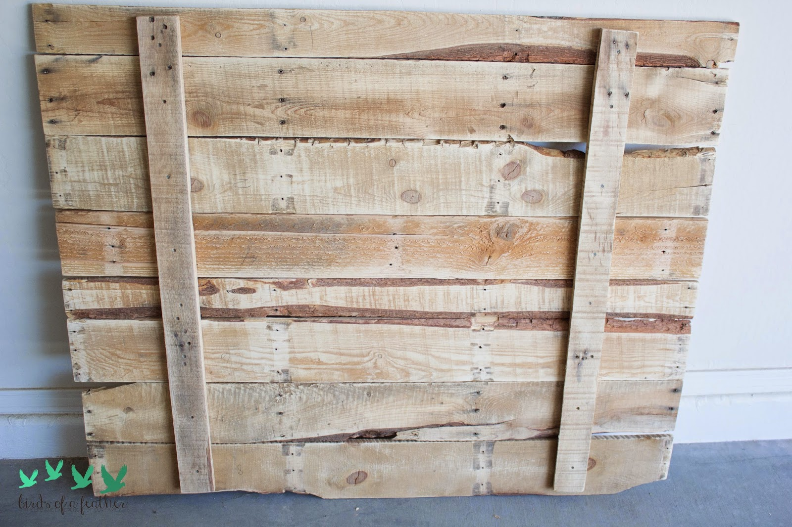 We Used Some Of The Smaller Strips From Pallet To Use Mount Pieces Together Did Have Cut Down Fit Way Wanted It