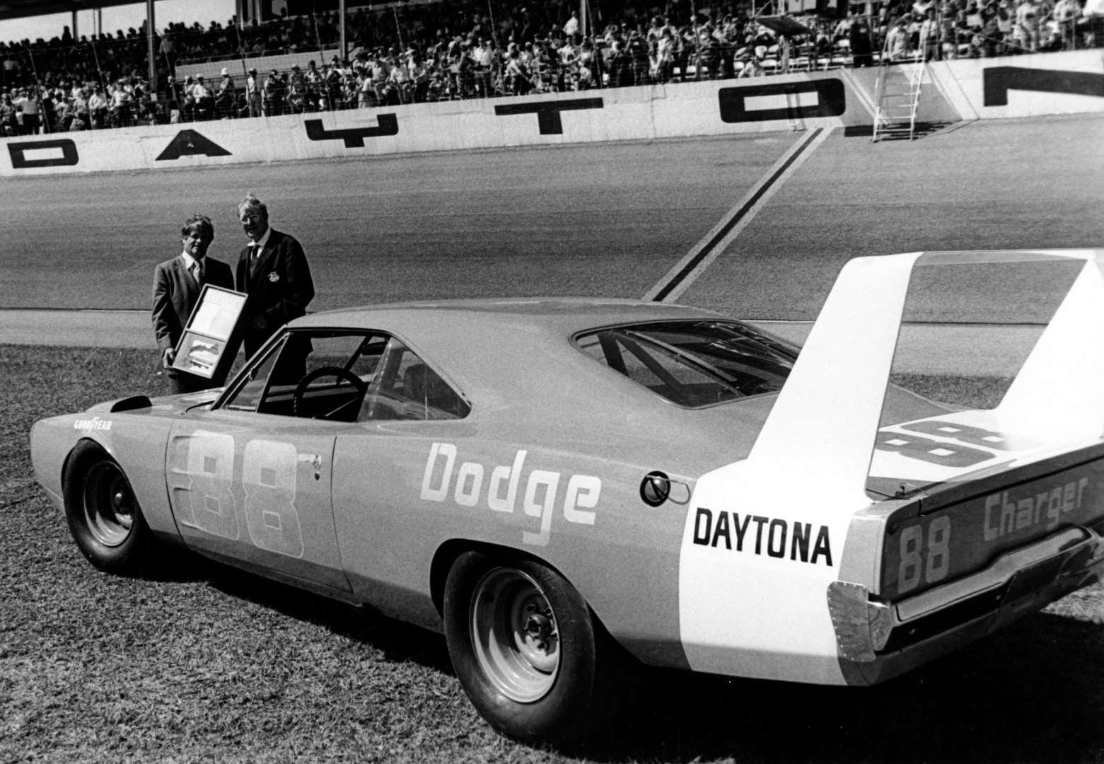 Chrysler test driver Buddy Baker took the No. 88 Dodge to a 200.447
