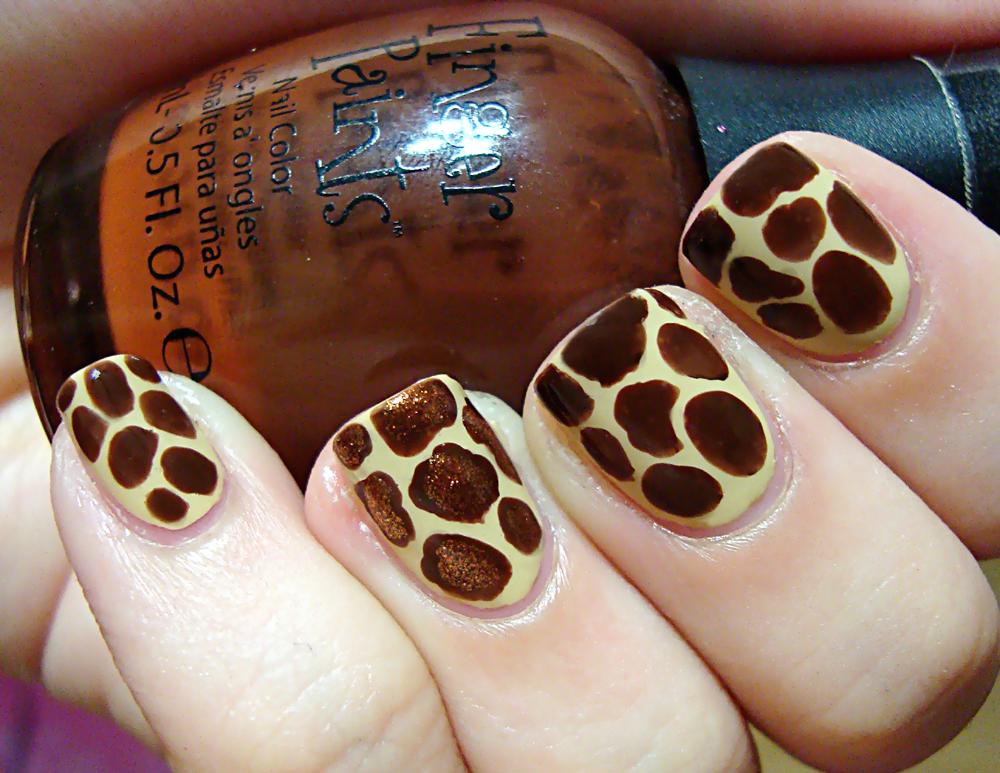Giraffe Nail Art Polished Love