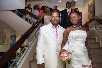 Guadeloupe, les Abymes, descente des escaliers de la mairie