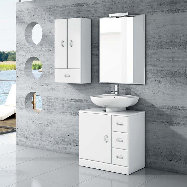 Mueble ba o lavabo pedestal 63 tu cocina y ba o - Mueble bajo lavabo con pedestal ...