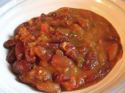 Nigerian Red Kidney Bean Stew with a Peanut Sauce