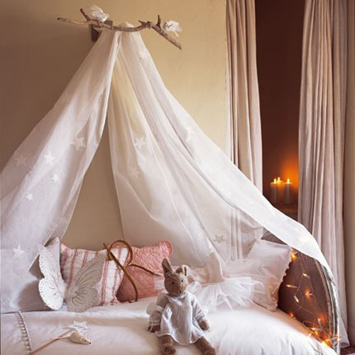you could make that a bed crown canopy or bed curtain
