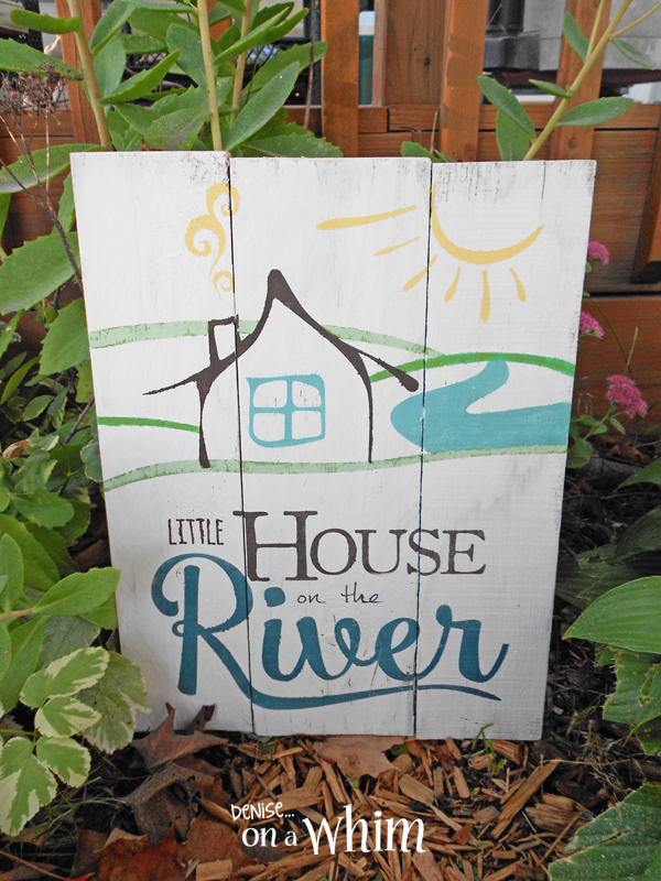 Little House on the River Pallet from Denise on a Whim