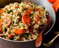Arroz com Cenoura e Salsinha (vegana)
