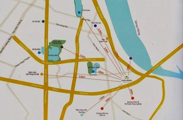 Vị trí cư xá Hòa Bình Green City