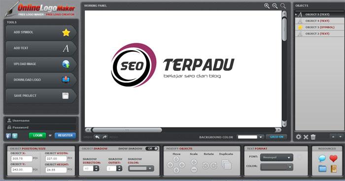 Cara Membuat Logo Online di Situs OnlineLogoMaker 2