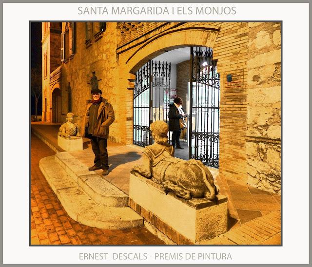 SANTA MARIA MARGARIDA I ELS MONJOS-PINTURA-PREMIS-CONCURSOS-ARTISTA-PINTOR-ERNEST DESCALS-MAS CATARRO-