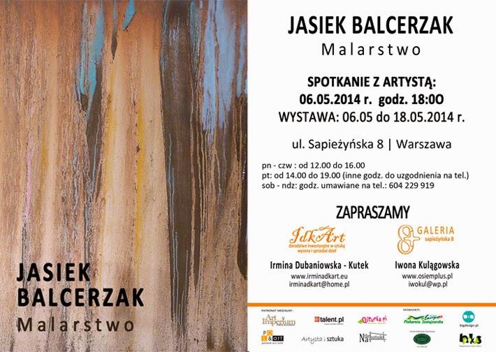 Zaproszenie na wernisaż malarstwa Jaśka Balcerzaka. 2014r.
