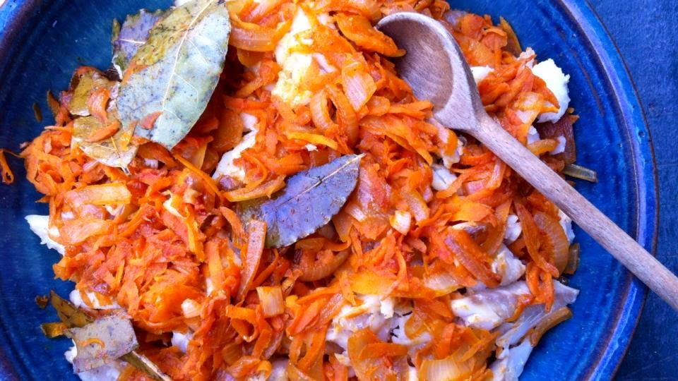 credit crunch munch, fish recipes, greek fish, polish food, recipe. festive food, ryba po grecku, Wigilia, Polska, Polish cooking, Polish recipes, Greek fish, seasonal food, Christmas recipes, Christmas eve recipes,