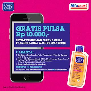 Info Sampel Gratis - Pulsa Gratis @10 ribu dari Alfamart dan Clean & Clear