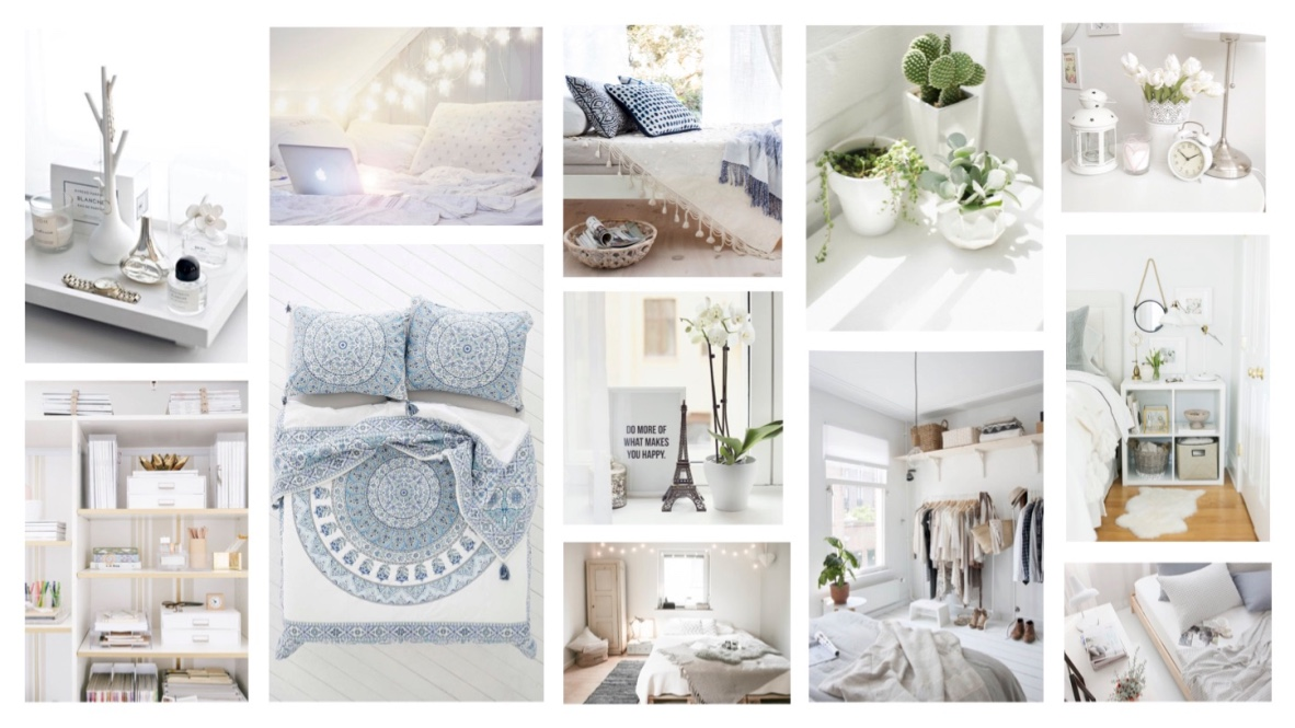 Christmas lights in bedroom how to decorate - Katherine Penney Chic Blogger Interior Home Bedroom White Inspiration