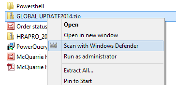 Windows Defender added into Context Menu