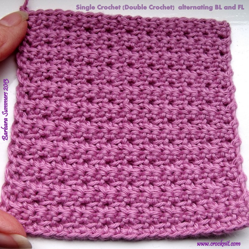 Crocheting Double Stitch : Mi Crochet Swatch it: Single Crochet - Double Crochet - Swatch One