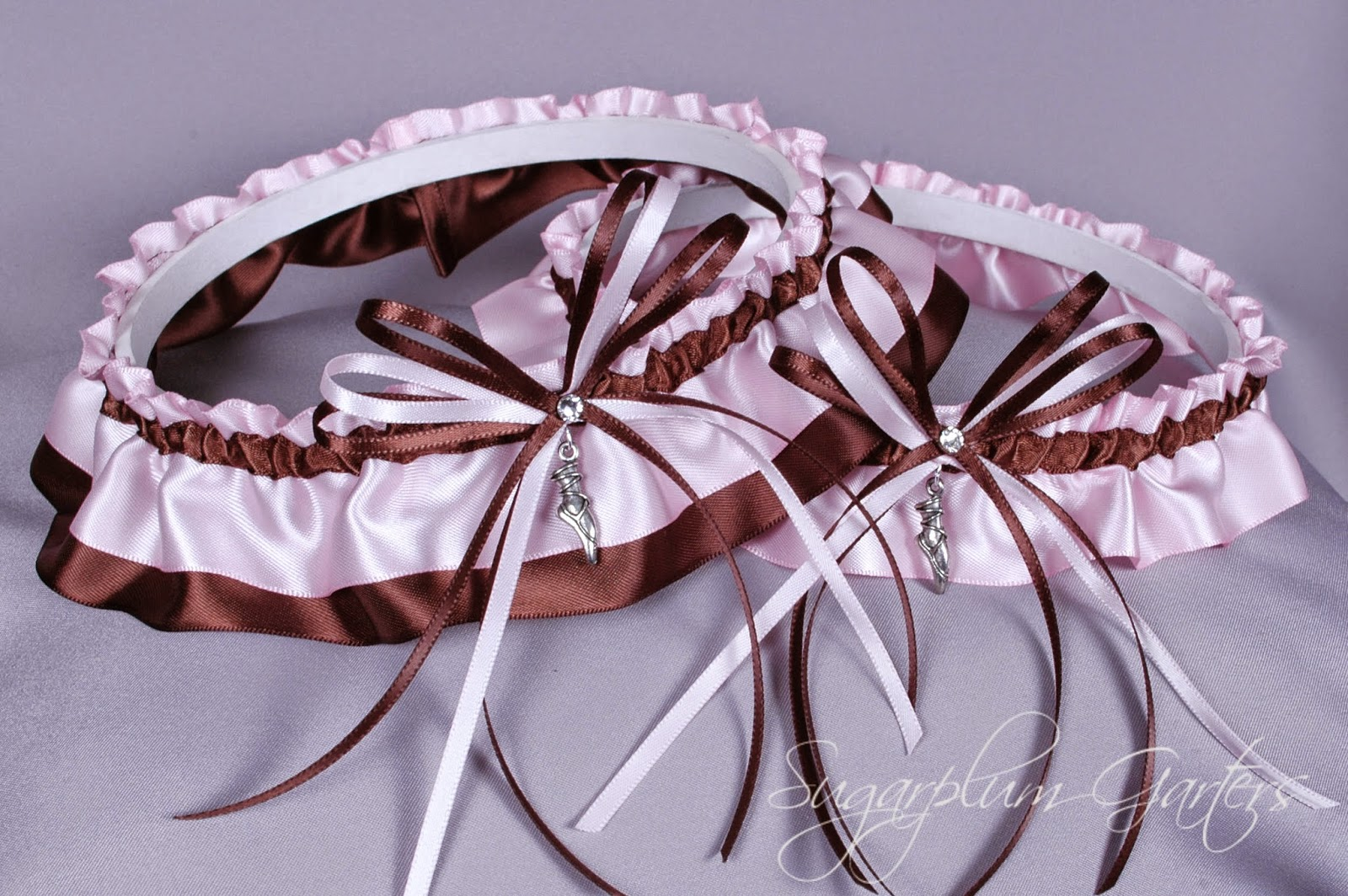 Custom Ballet Wedding Garter Set by Sugarplum Garters