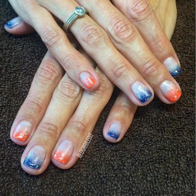 Broncos Colors by Nailed It @ www.blognailedit.co