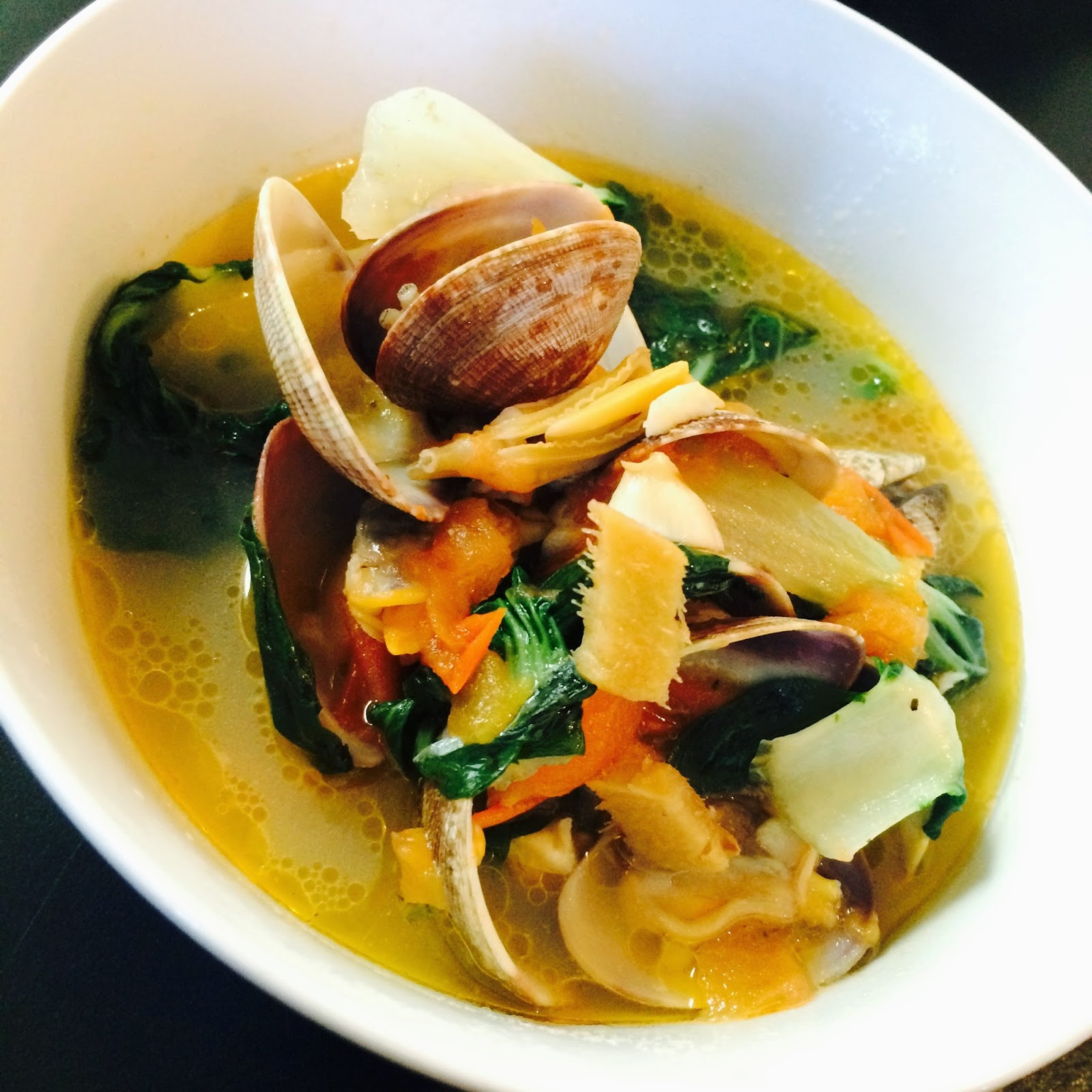 PASSION ON THE STOVE TOP: Manila Clams & Basil Soup