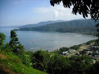 Bahía Solano from a high