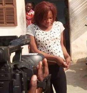News : Cameroonian boy who disguised as a female apprehended and made to strip [ Photos ]