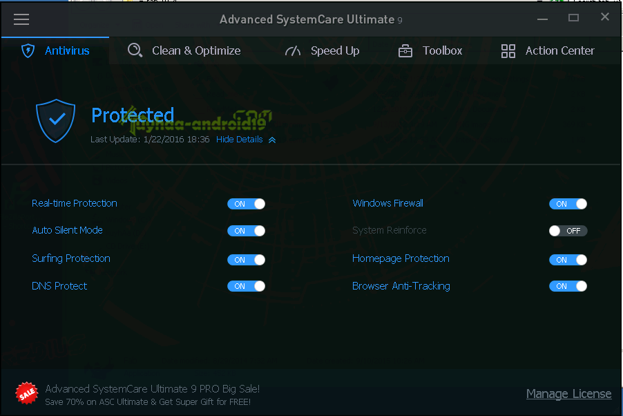 Advanced system cara Ultimate