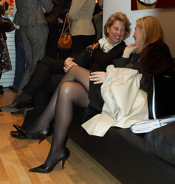 image Candid beautiful blonde shoeplay dangling feet and legs pt 1